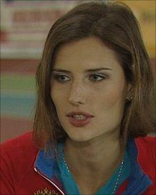 Olympic medal hopeful Yulia Pidluzhny is a gradute of the Olympic School in Ekaterinburg