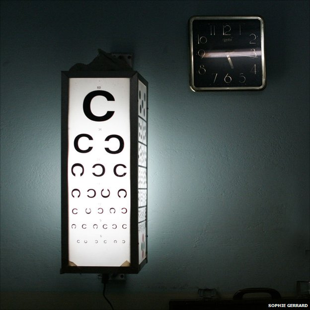 Eye chart, Dehri-On-Sone, Bihar