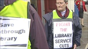 Protest in Doncaster about library service changes