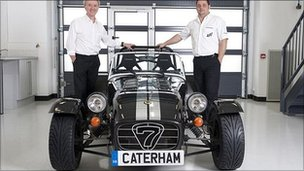 Caterham Cars' Tony Shute (left) and Mark Edwards (right)