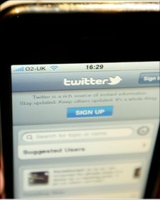 Twitter on an iPhone