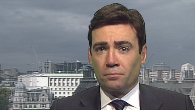 Labour's shadow health secretary Andy Burnham
