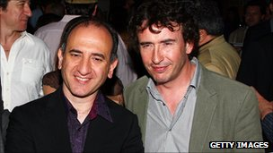Armando Iannucci and Steve Coogan