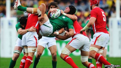 Wales played Ireland in the quarter-final.