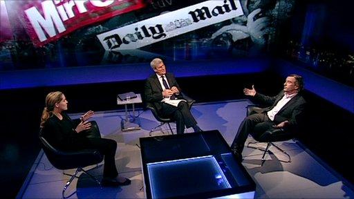 Louise Mensch, Jeremy Paxman and Steve Coogan