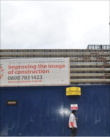 Billboard outside Heygate estate