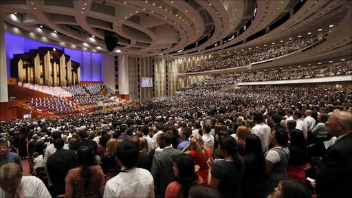 Mormons attending conference