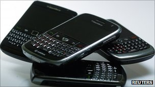A range of Blackberry handsets