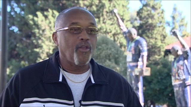 Tommie Smith and the black power salute statue