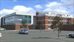 Artist's impression of police headquarters south site, Kidlington