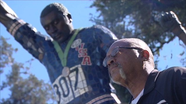 Tommie Smith and remembers the black power salute