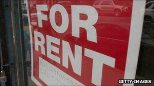 A 'for rent' sign