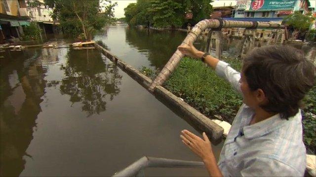 Rachel Harvey in flooded Bangkok