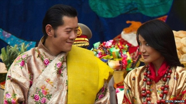 King Jigme and his bride