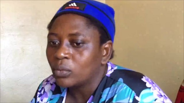 Jacquie Kasokome, who was the victim of a rape in Angola