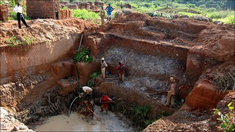 Illegal mining in Angola