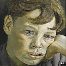 Sotheby's photograph of Lucian Freud's portrait Boy's Head