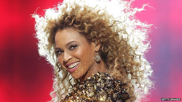 Beyonce Knowles performing at Glastonbury in 2011