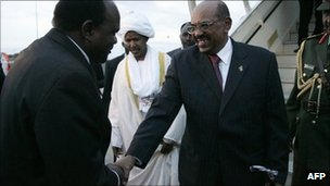 President Bashir is welcomed in Lilongwe
