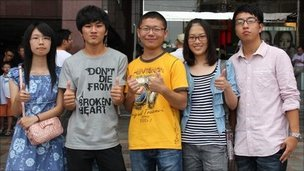 Chinese and Taiwanese students at Taichung