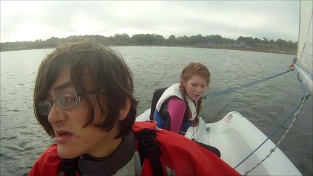 Teenagers in a boat