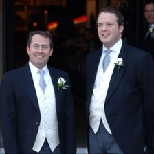 Liam Fox and Adam Werritty at Mr Fox&#039;s wedding