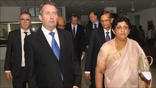 Liam Fox and Adam Werritty in Sri Lanka in 2011