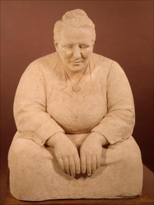 Sculpture of Gertrude Stein by Jo Davidson