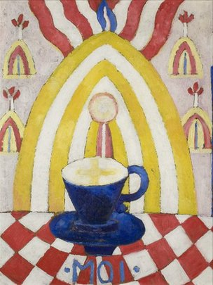 Marsden Hartley painting of Gertrude Stein as a teacup