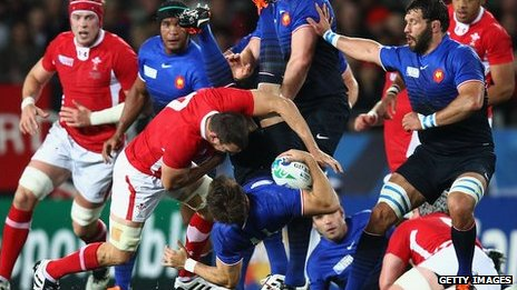 Sam Warburton was sent off for this tackle