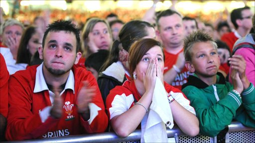 Wales fans at the Millennium Stadium Photo: Wales News