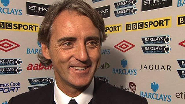 Man City boss Roberto Mancini
