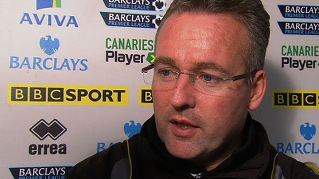 Norwich City boss Paul Lambert