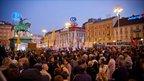 Crowd in square, Croatia. Photo: Ivan Klindic