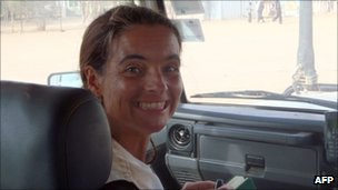 Photo handout of MSF Spanish aid worker Montserrat Serra on 14 October 2011