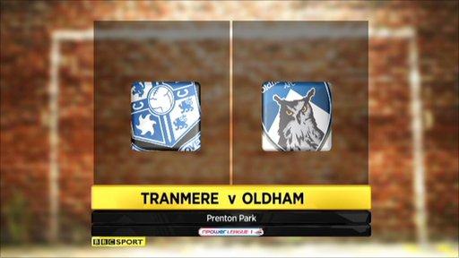 Tranmere 1-0 Oldham