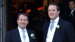 Liam Fox with Adam Werritty