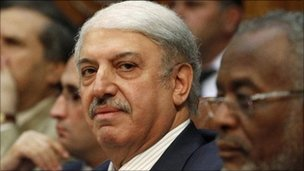 Syria's Ambassador in Cairo Yousef Ahmad attends a meeting of Arab League foreign ministers to discuss Syria at the League headquarters in Cairo October 16, 2011.