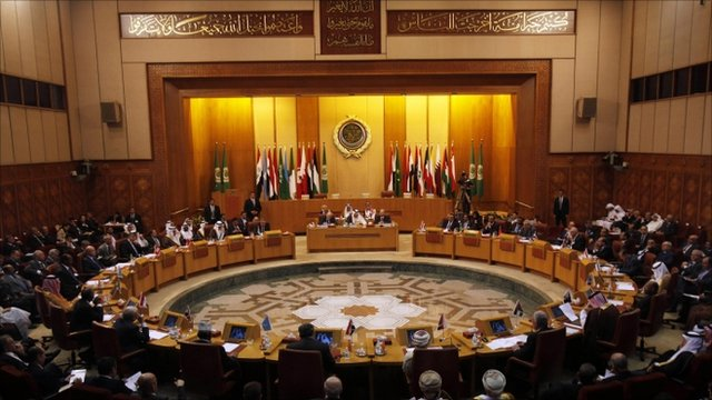 Arab League foreign ministers discuss Syria at their headquarters in