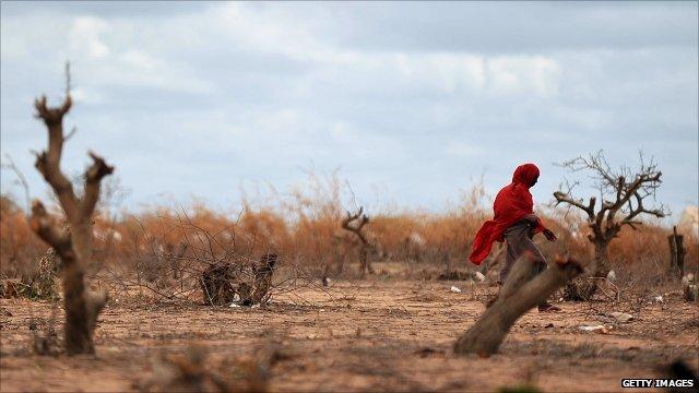 Woman near Somali-Kenya border