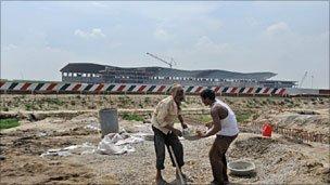 The site of the F1 track near Delhi, India