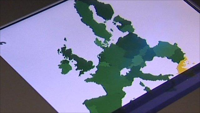 EU map highlighting Greece