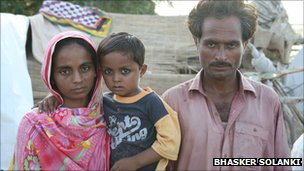 Muhammad Hanif with his family