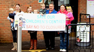 Children's Centre protests