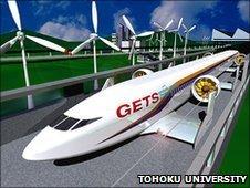 "Ground effect ""Aero-Train"" CGI prototype"