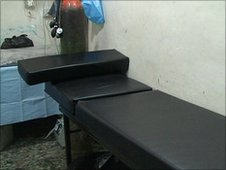Bed in Homs field hospital