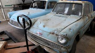 Two Ford Anglia cars