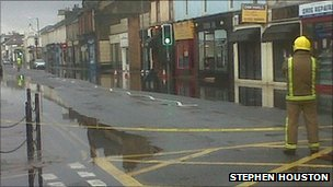 Flooding in Troon