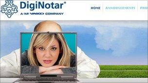 DigNotar homepage