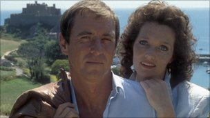 John Nettles as Jim Bergerac and Louise Jameson as Susan Young